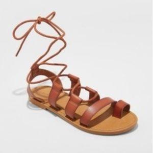 Universal Thread Reddish Strap Gladiator Sandals
